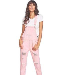 Pink Twill Denim Overall NWT 1X 2X 3X LOOK